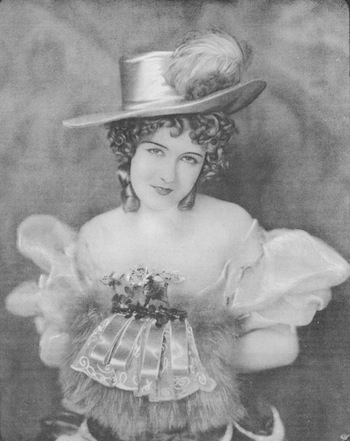 Dorothy Gish in the British Silent Film Nell Gwyn (1926) filmed at the Islington Studio, London (outfit designed by Doris Zinkiesen)
