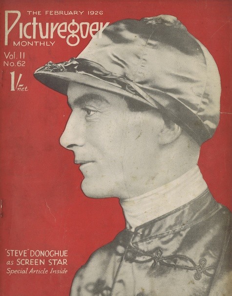 Stephen Donaghue on the front cover of Picturegoer