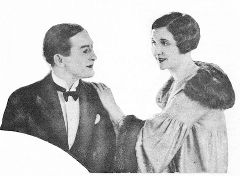 Stephen Donoghue and June in a scene from Riding For a King (1926) filmed at the Islington studio