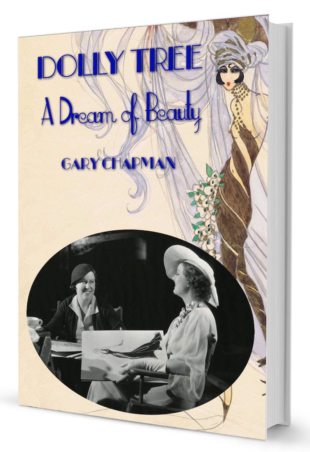 The cover the illustrated biography of the Jazz Age costume designer Dolly Tree